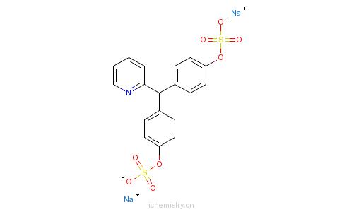 匹克硫酸钠的分子结构