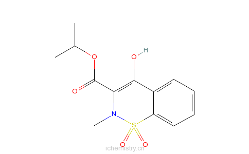 2-苯并噻嗪-3-甲酸异丙酯1,1-二氧化物的分子结构