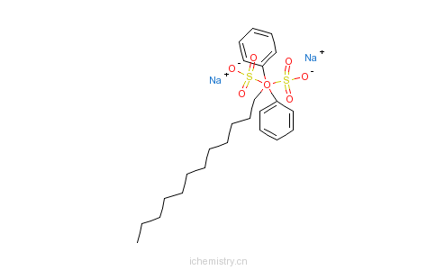 十二烷基二苯醚二磺酸钠盐的分子结构