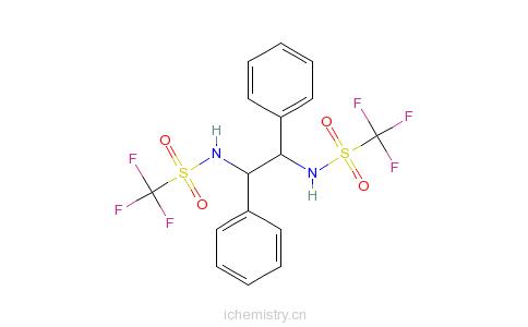 r)-n,n-双(三氟甲烷烷磺酰)-1,2-二苯基乙二胺的分子结构