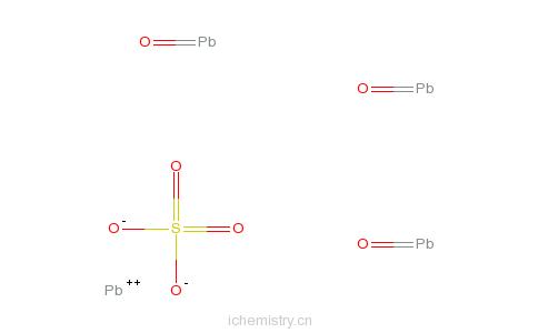 cas:12202-17-4_三碱式硫酸铅的分子结构