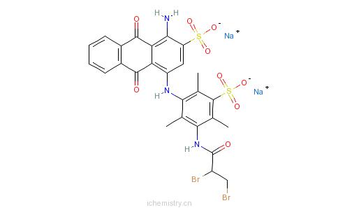毛用活性蓝pw-3r的分子结构