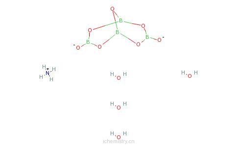 硼酸铵的分子结构