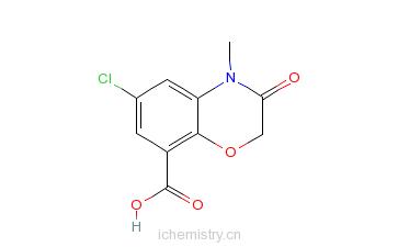 4-二氢-2h-1,4-苯并恶嗪-8-羧酸的分子结构