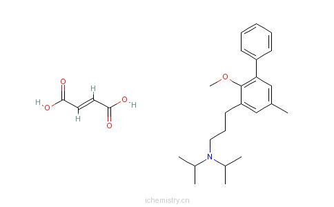 n-双(1-甲基乙基)-3-苯基-苯丙胺富马酸盐的分子结构