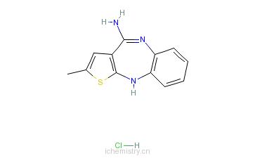 3-b][1,5]苯并二氮杂卓盐酸盐的分子结构