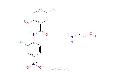 氯硝柳胺乙醇胺盐的分子结构