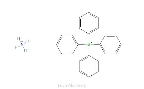 四苯基硼酸铵的分子结构