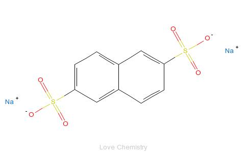 6-萘二磺酸钠的分子结构