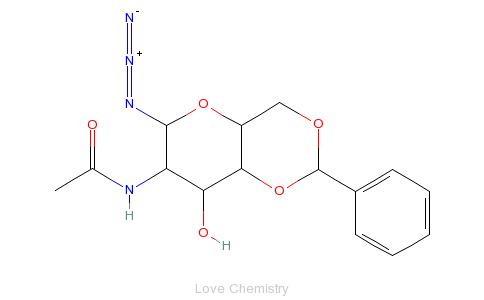 6-亚苄基-2-脱氧-β-d-半乳糖-1-叠氮化物的分子结构