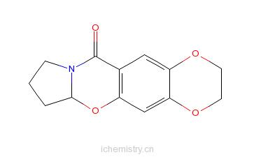 4-二恶烷并[2,3-g]吡咯并[2,1-b][1,3]苯并恶嗪-11-酮的分子结构