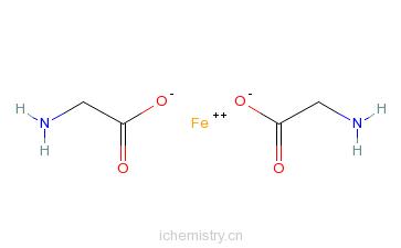 cas:20150-34-9_甘氨酸亚铁的分子结构
