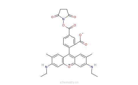 cas:209112-21-0_5-羧基罗丹明6g琥珀酰亚胺酯的分子结构