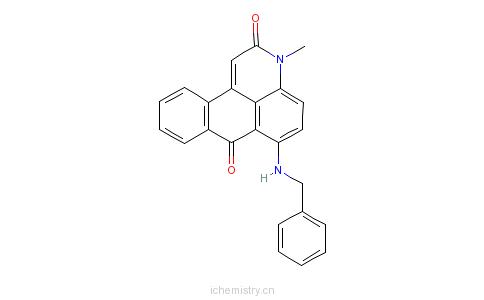 甲基-6-[(苯基甲基)胺基]-3h-二苯并[fij]异喹啉-2,7-二酮的分子结构