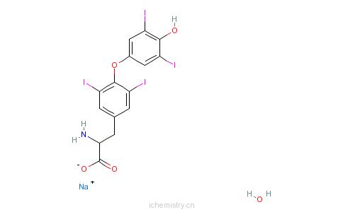 l-甲状腺素钠的分子结构