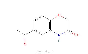 cas:26518-71-8_6-乙酰基-2h-1,4-苯并恶嗪-3-酮的分子结构