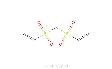 双(乙烯砜基)甲烷的分子结构
