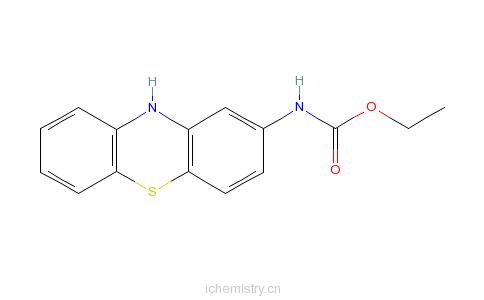 cas:37711-29-8_吩噻嗪基-2-氨基甲酸乙酯的分子结构