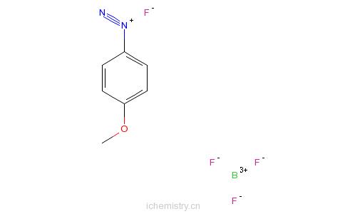 四氟硼酸-4-甲氧基重氮苯正酯的分子结构