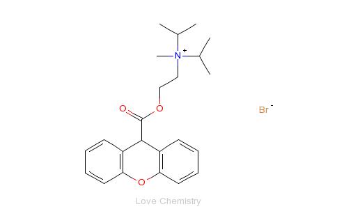 cas:50-34-0_溴丙胺太林的分子结构