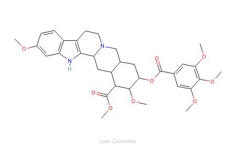 cas:50-55-5_利血平的分子结构