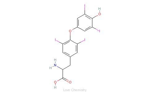 d-甲状腺素的分子结构