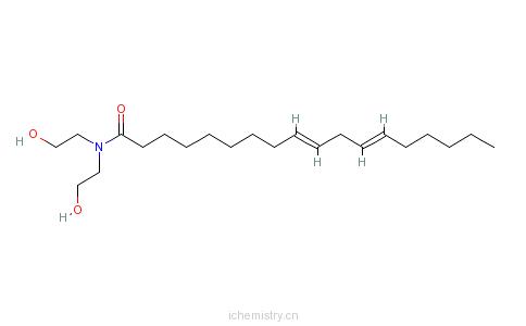 亚油酸二乙醇酰胺的分子结构