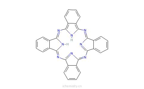 酞菁染料的分子结构
