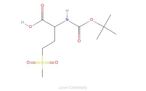 cas:60280-45-7_丁氧羰基-甲硫氨酸(o2)-oh的分子结构