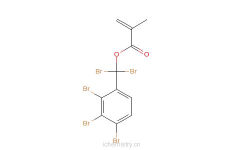 五溴苄基甲基丙烯酸酯的分子结构