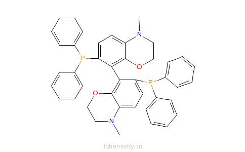 7-双(二苯基膦)-3,3,4,4-四氢-8,8-二-2h-1,4-苯并恶嗪的分子结构