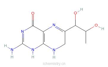 8-二氢生物蝶呤的分子结构