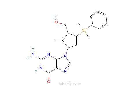 硅烷基)-3-羟甲基-2-亚甲基环戊基]-1,9-二氢-6h-嘌呤-6-酮的分子结构