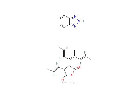 三唑的化合物的分子结构