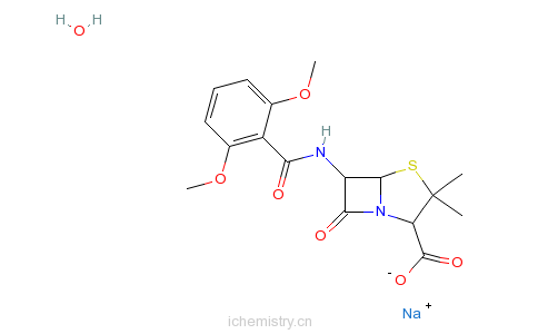 甲氧苯青霉素的分子结构
