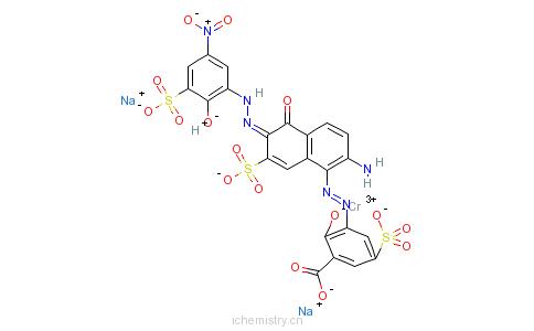 萘基]偶氮]-2-羟基-5-磺基苯甲酸根(6-)]的分子结构
