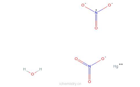 硝酸汞一水合物的分子结构
