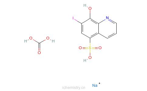 cas:8002-90-2_喹碘方的分子结构