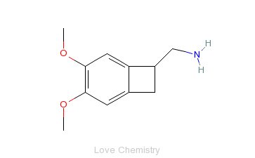 CAS:869856-07-5_(7S)-3,4-Dimethoxybicyclo[4.2.0]octa-1,3,5-triene-7-methanamine的分子结构